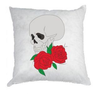 Poduszka Czaszka w kwiatach