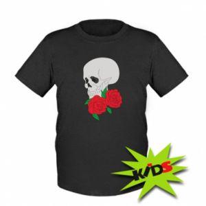 Dziecięcy T-shirt Czaszka w kwiatach
