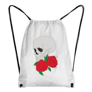 Backpack-bag Skull in flowers