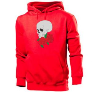 Men's hoodie Skull in flowers
