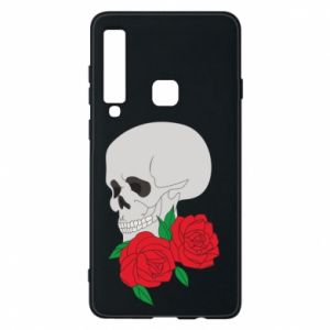 Samsung A9 2018 Case Skull in flowers