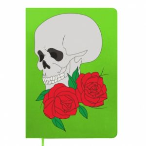 Notepad Skull in flowers