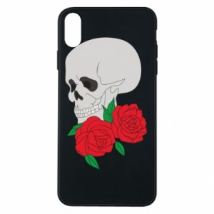 iPhone Xs Max Case Skull in flowers