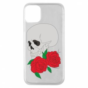 iPhone 11 Pro Case Skull in flowers