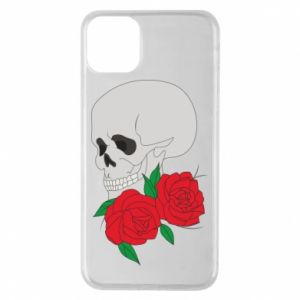 iPhone 11 Pro Max Case Skull in flowers