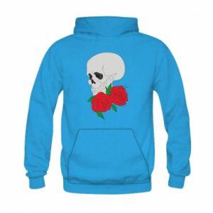 Bluza z kapturem dziecięca Czaszka w kwiatach