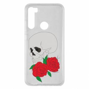 Xiaomi Redmi Note 8 Case Skull in flowers