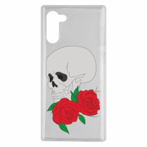 Samsung Note 10 Case Skull in flowers