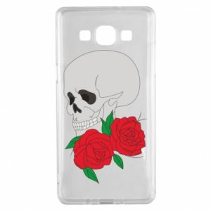 Samsung A5 2015 Case Skull in flowers