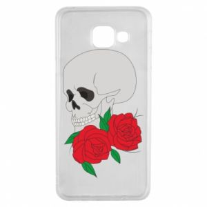 Samsung A3 2016 Case Skull in flowers