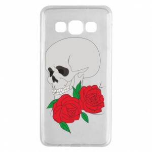 Samsung A3 2015 Case Skull in flowers