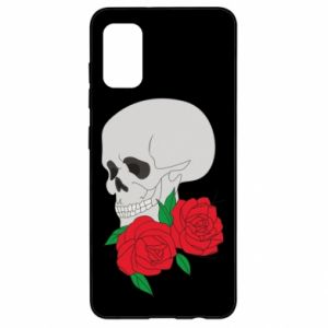 Samsung A41 Case Skull in flowers