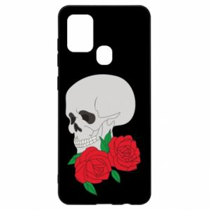 Samsung A21s Case Skull in flowers