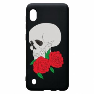 Samsung A10 Case Skull in flowers
