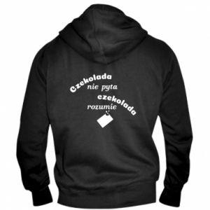 Men's zip up hoodie Chocolate does not ask chocolate understands - PrintSalon