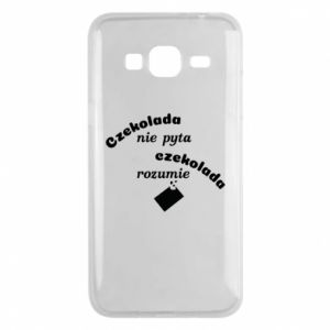 Phone case for Samsung J3 2016 Chocolate does not ask chocolate understands - PrintSalon