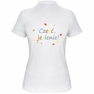 Koszulka polo damska Cześć, jesienie!