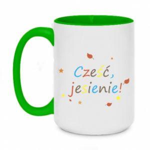 Two-toned mug 450ml Hello, Autumn!