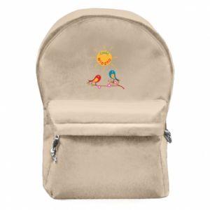 Plecak z przednią kieszenią Cześć, wiosno!