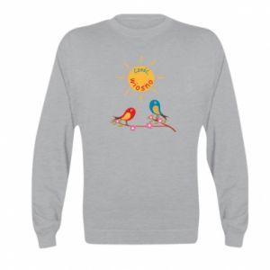 Kid's sweatshirt Hi, spring!