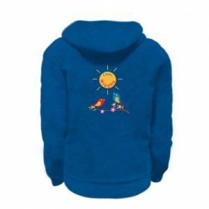 Kid's zipped hoodie % print% Hi, spring!