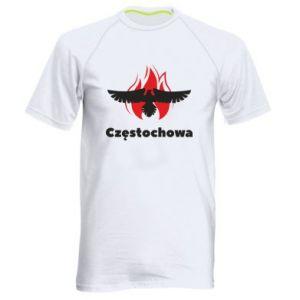 Koszulka sportowa męska Częstochowa z orłem