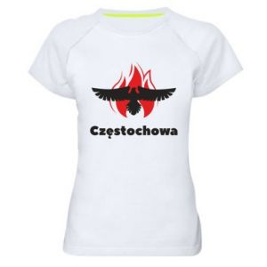 Koszulka sportowa damska Częstochowa z orłem