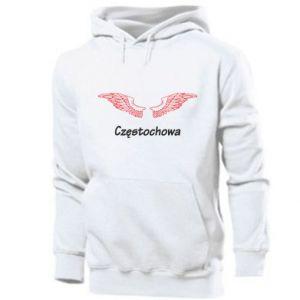 Męska bluza z kapturem Częstochowa ze skrzydłami