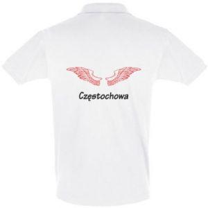 Koszulka Polo Częstochowa ze skrzydłami