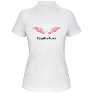 Damska koszulka polo Częstochowa ze skrzydłami