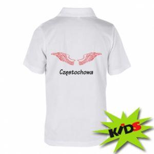 Dziecięca koszulka polo Częstochowa ze skrzydłami