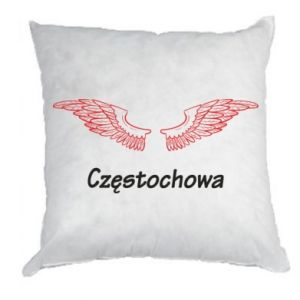 Poduszka Częstochowa ze skrzydłami