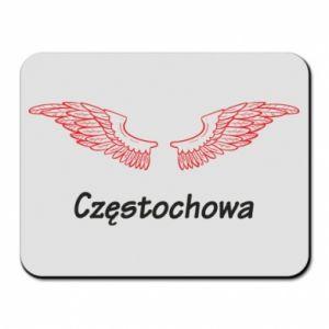 Podkładka pod mysz Częstochowa ze skrzydłami