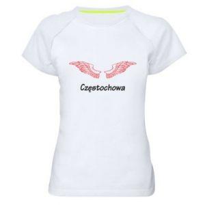 Damska koszulka sportowa Częstochowa ze skrzydłami