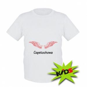 Dziecięcy T-shirt Częstochowa ze skrzydłami