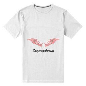 Męska premium koszulka Częstochowa ze skrzydłami