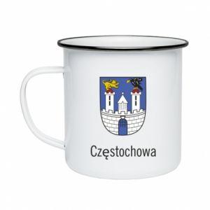 Kubek emaliowany Częstochowa
