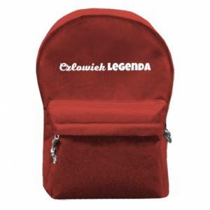 Plecak z przednią kieszenią Człowiek legenda