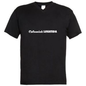 Męska koszulka V-neck Człowiek legenda