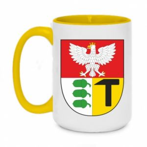 Two-toned mug 450ml Dombrova Gournich coat of arms