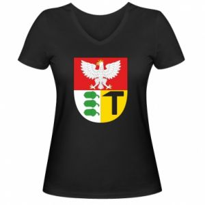 Damska koszulka V-neck Dąbrowa Górnicza herb