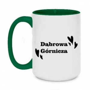 Two-toned mug 450ml Dabrowa Gornicza