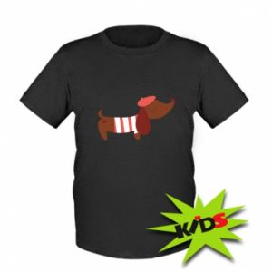 Kids T-shirt Dachshund french