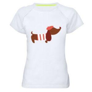 Koszulka sportowa damska Dachshund french