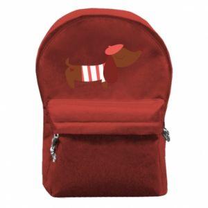 Plecak z przednią kieszenią Dachshund french