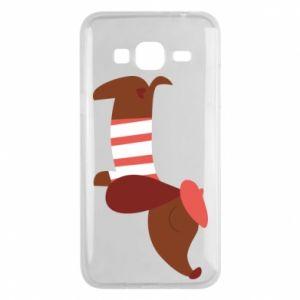 Etui na Samsung J3 2016 Dachshund french