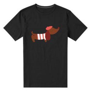 Męska premium koszulka Dachshund french