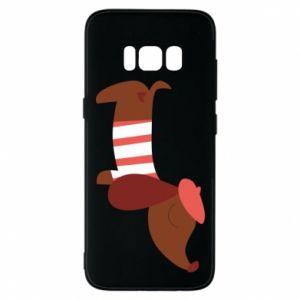 Etui na Samsung S8 Dachshund french
