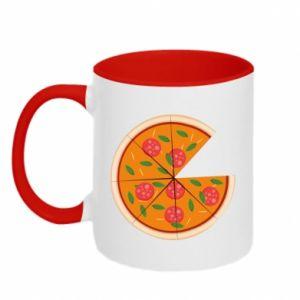 Two-toned mug Daddy's pizza - PrintSalon