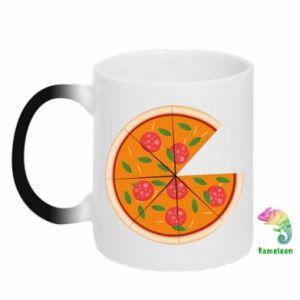Chameleon mugs Daddy's pizza - PrintSalon